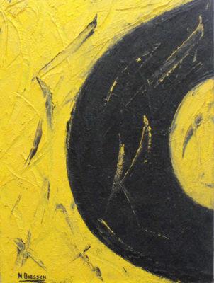 Abstract werk 1 zonder titel