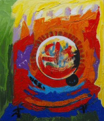 Abstract werk 5 zonder titel