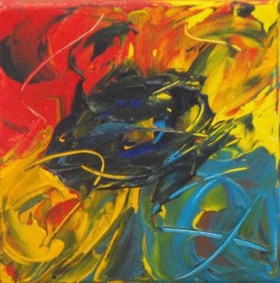 Abstract werk 8 zonder titel