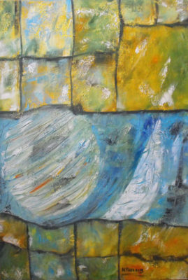 Abstract werk 9 zonder titel